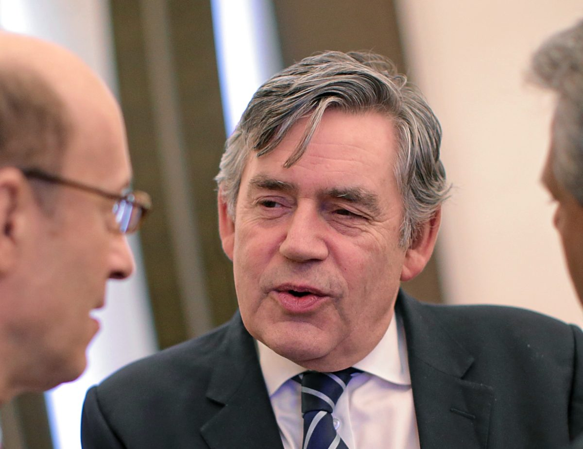Former UK PM Gordon Brown
